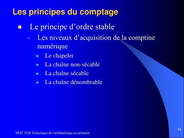 Les principes du comptage