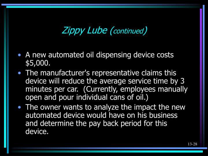 Zippy Lube (