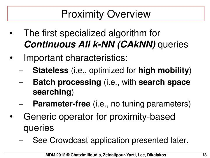 Proximity Overview