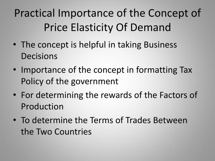 practical application of price elasticity Elasticity of demand :-  elasticity of demand is the rate at which the quantity demanded changes with a change in price in other words we can say that elasticity of demand is the relationship between the proportionate change in price and the proportionate change in quantity demanded.