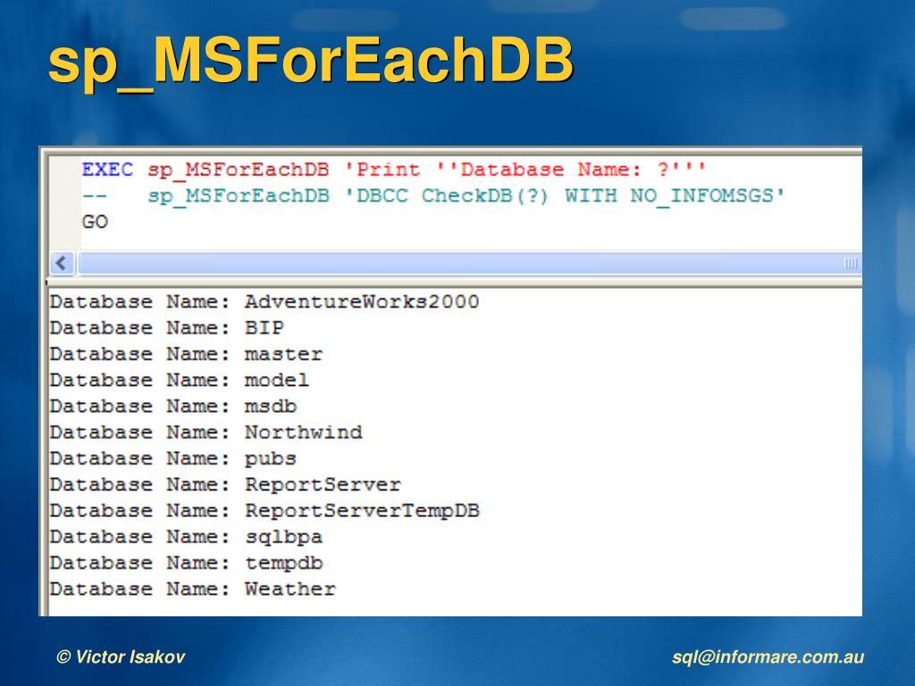PPT - SQL Server Stored Procedures Architecture & Performance