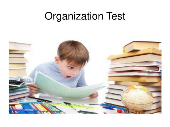 Organization test