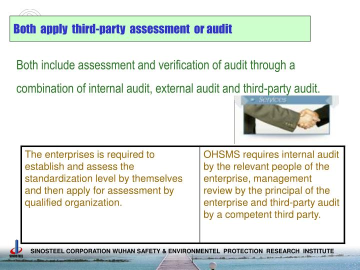 Both  apply  third-party  assessment  or audit