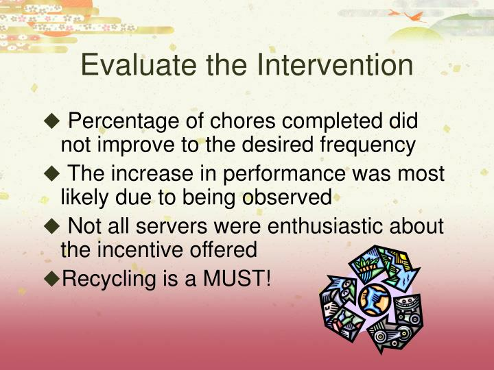Evaluate the Intervention