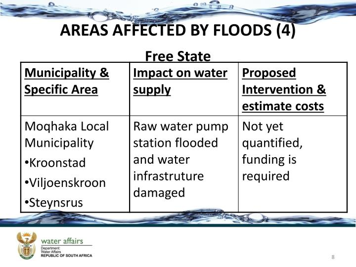 AREAS AFFECTED BY FLOODS (4)