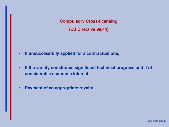 Compulsory Cross-licensing