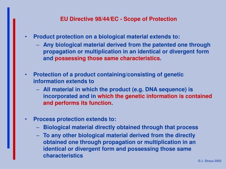 EU Directive 98/44/EC - Scope of Protection