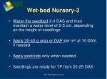 wet bed nursery 3
