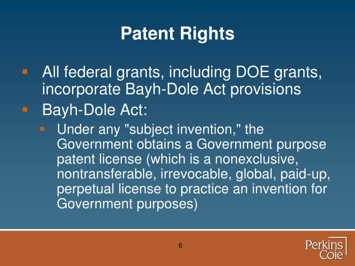 Patent Rights