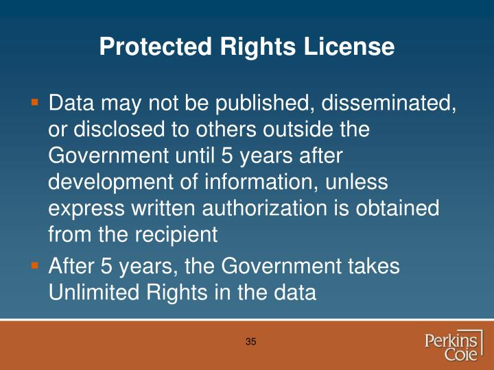Protected Rights License