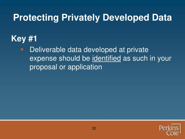 Protecting Privately Developed Data
