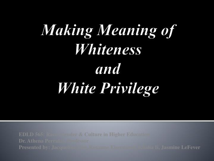 white privilege unpacking the invisible knapsack Assign students to read peggy mcintosh's essay white privilege: unpacking the invisible knapsack depending on the reading level of your students you may want to give them a.