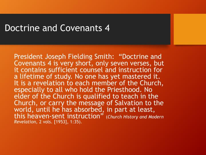 Doctrine and Covenants 4
