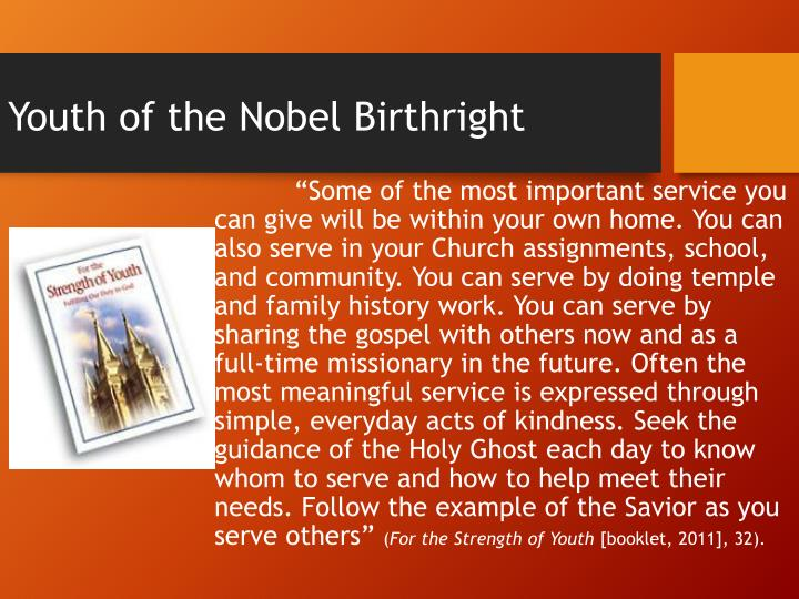 Youth of the Nobel Birthright