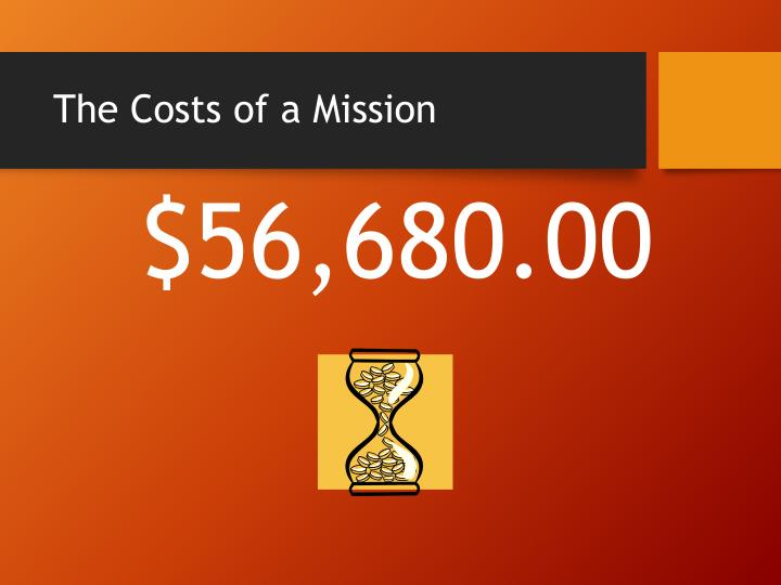 The Costs of a Mission