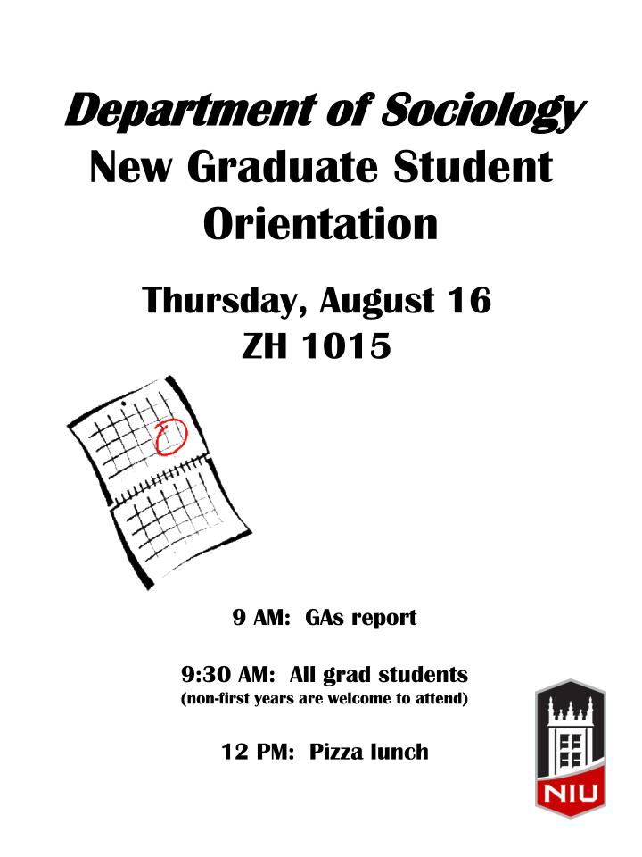 Department of sociology new graduate student orientation