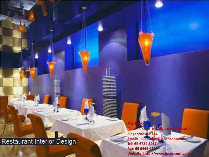 Ppt restaurant interior design powerpoint presentation