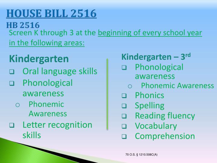 HOUSE BILL 2516