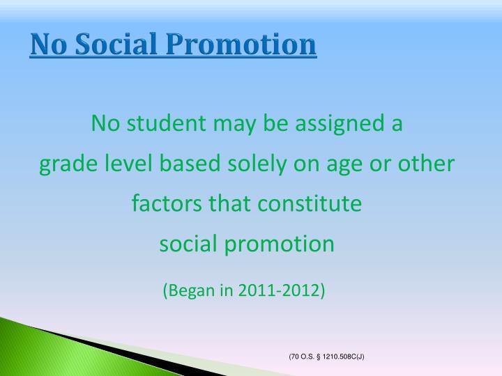 No Social Promotion
