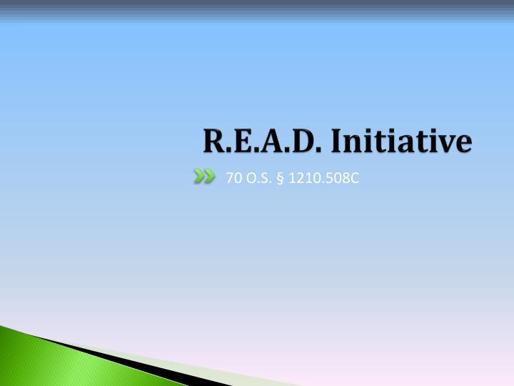 R.E.A.D. Initiative