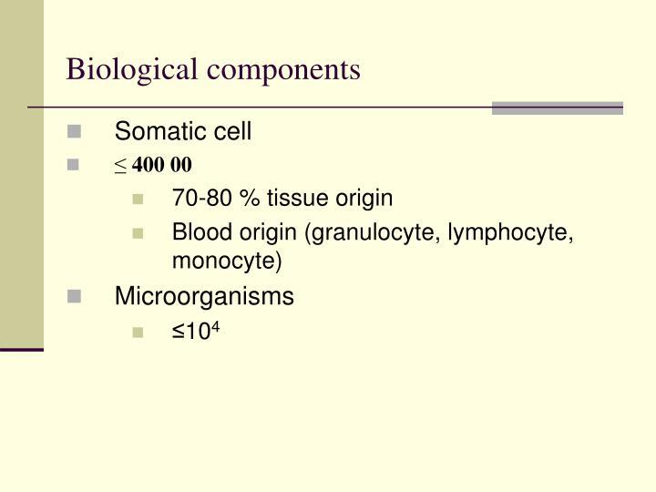 Biological components