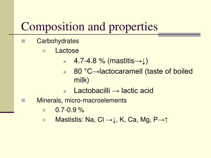 Composition and properties