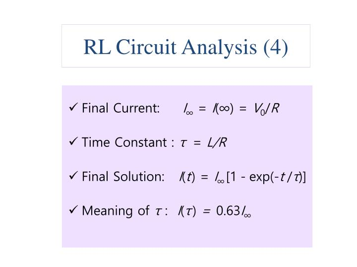 RL Circuit Analysis (4)