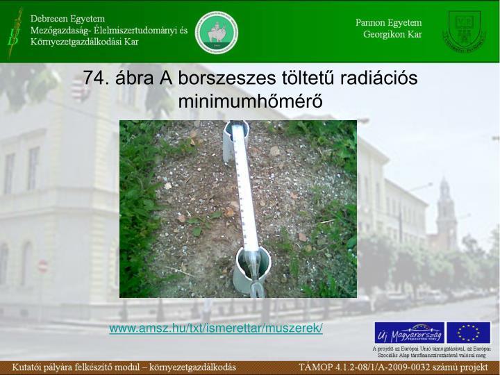 74. ábra A borszeszes töltetű radiációs minimumhőmérő