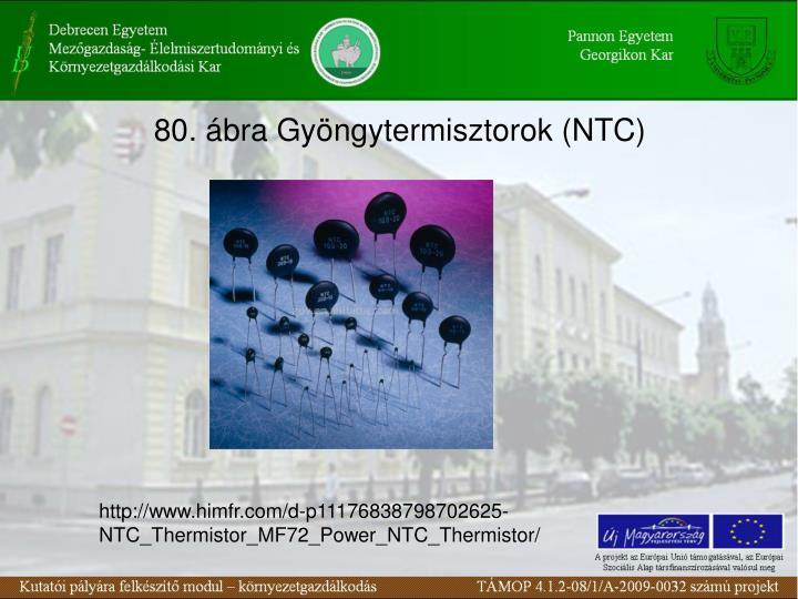 80. ábra Gyöngytermisztorok (NTC)