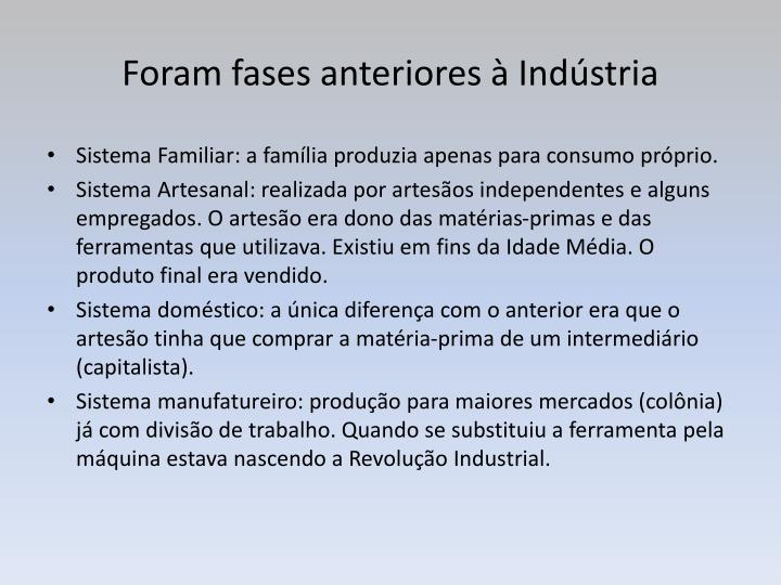 Foram fases