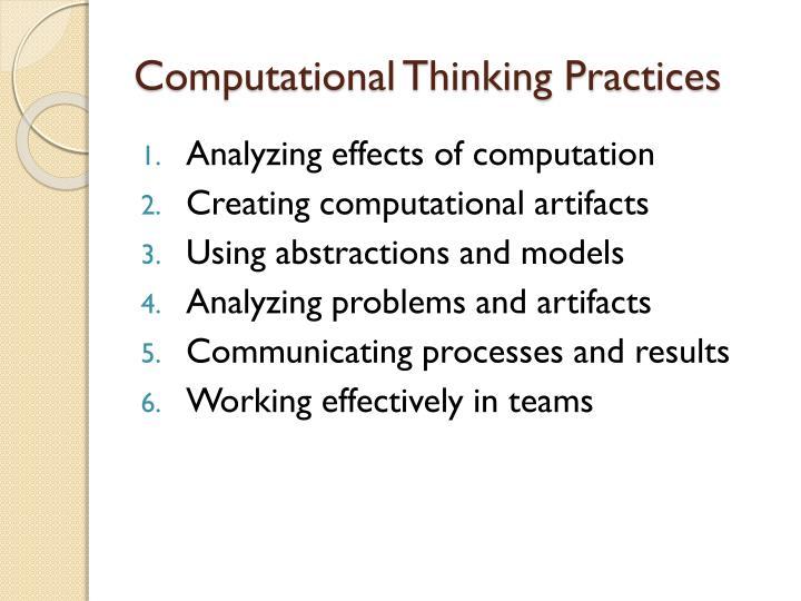 Computational Thinking Practices