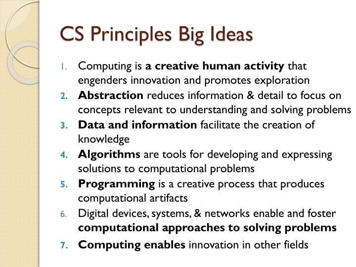 CS Principles Big Ideas