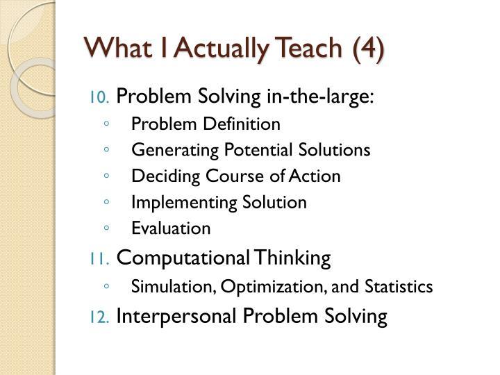 What I Actually Teach (4)