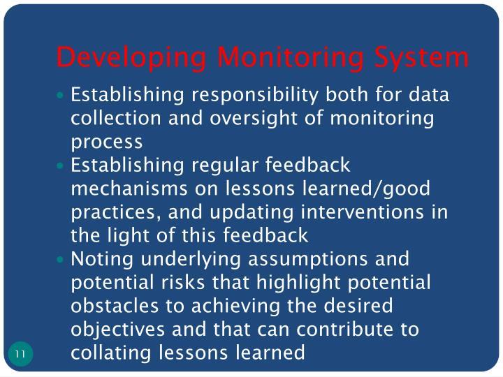 Developing Monitoring System