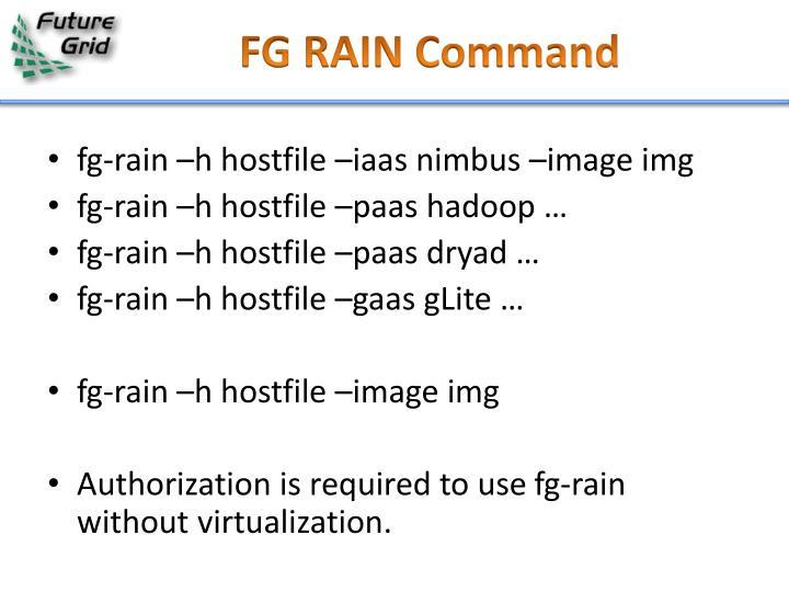 FG RAIN Command