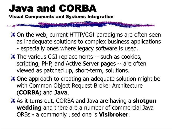Java and CORBA