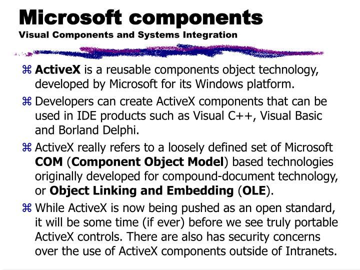 Microsoft components