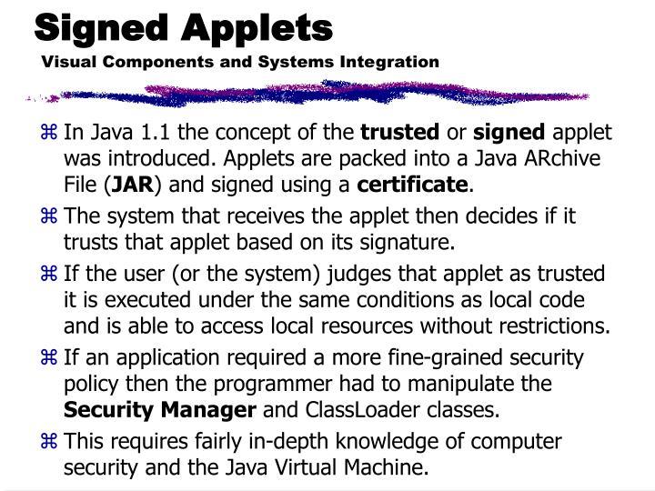 Signed Applets