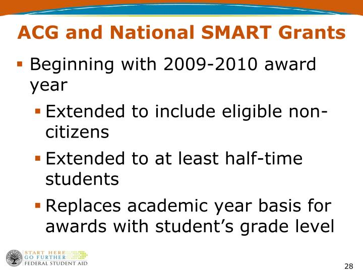 ACG and National SMART Grants