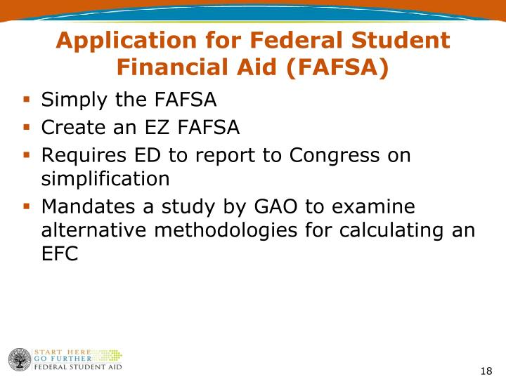 Application for Federal Student Financial Aid (FAFSA)