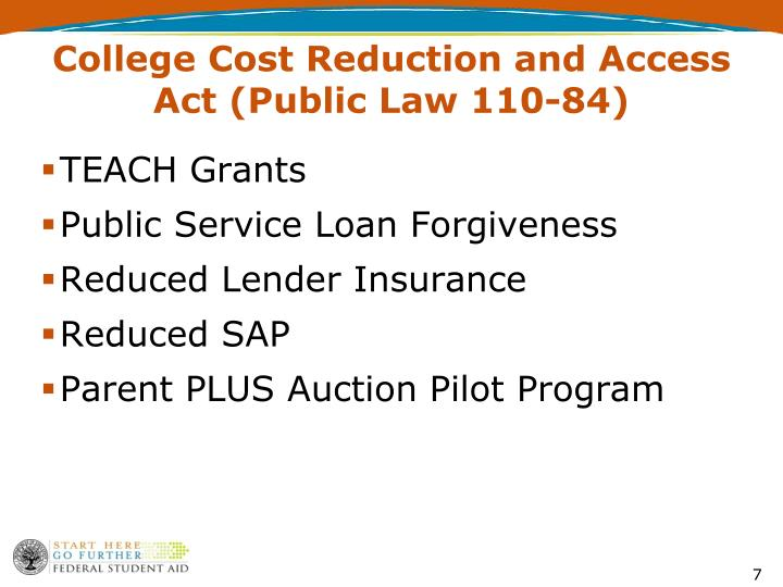 College Cost Reduction and Access Act (