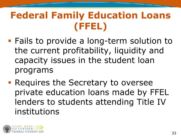 Fails to provide a long-term solution to the current profitability, liquidity and capacity issues in the student loan programs