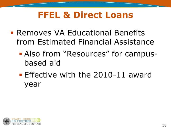 Removes VA Educational Benefits from Estimated Financial Assistance