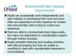 achievement that requires improvement