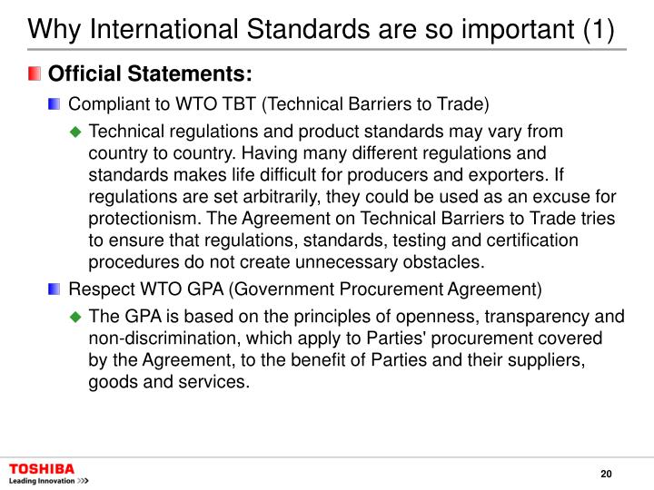 Why International Standards are so important (1)