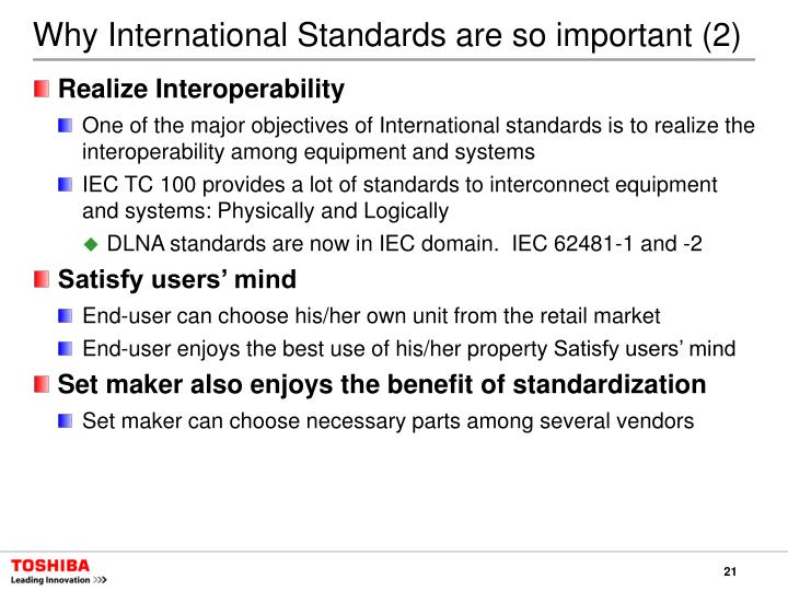 Why International Standards are so important (2)
