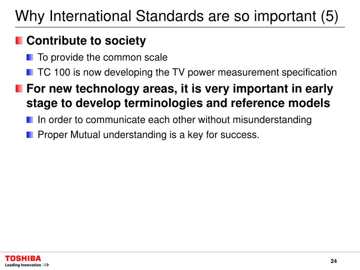 Why International Standards are so important (5)