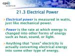 21 3 electrical power