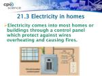 21 3 electricity in homes
