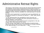 administrative retreat rights1